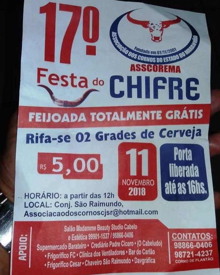 17ª Festa dos Cornos acontece em São Luís (MA) neste domingo (11)